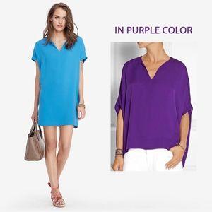 Diane von Furstenberg DVF Kora Purple Tunic Dress